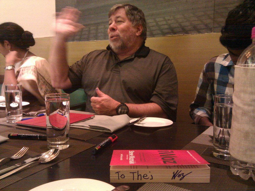 Woz sharing his ideas.