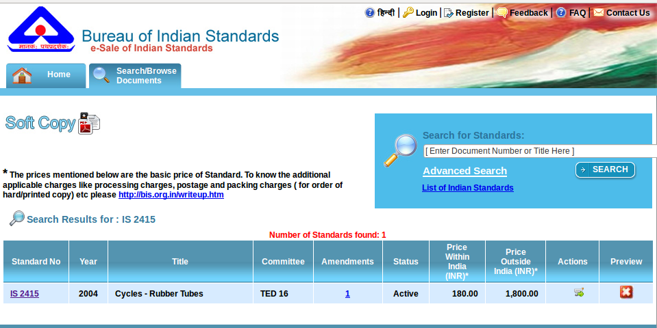 Bureau Of Indian Standards And Open Access Thejesh Gn