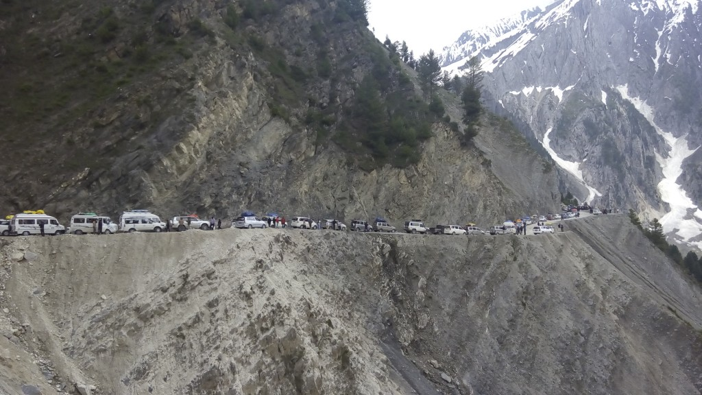 Sonamarg Traffic Jam