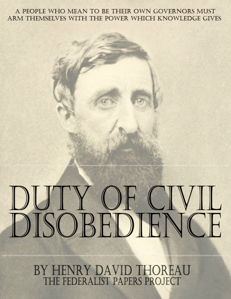 essay on civil disobedience thoreau Civil disobedience by henry david in his chapter on the duty of submission to civil government, resolves all civil obligation into henry thoreau.