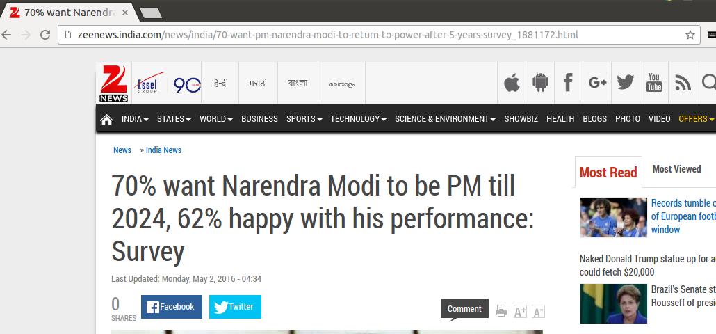 Zee News Story