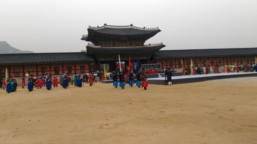 Some Royal ceremony was in progress when we reached.