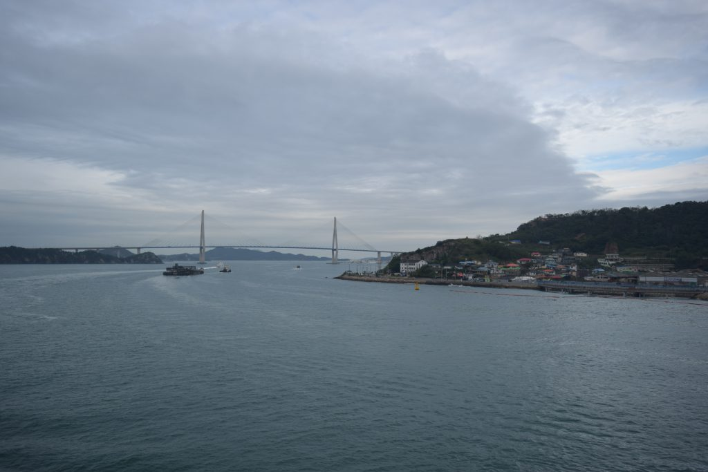 View of Mokpo the ferry