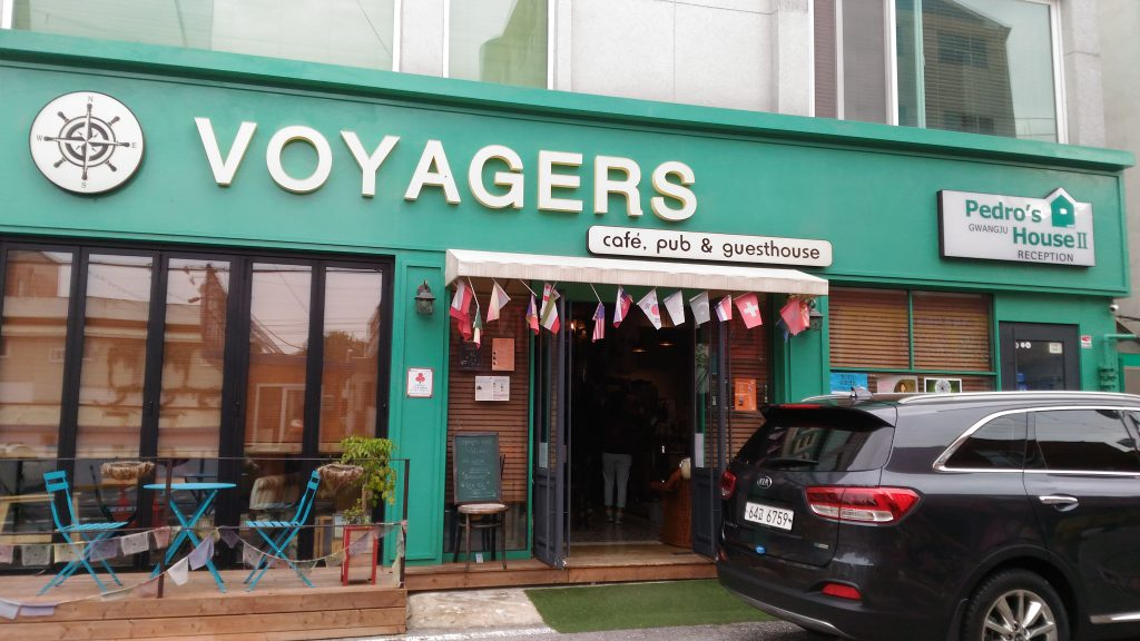 Pedo's cafe is called voyages. His guesthouse is next door.