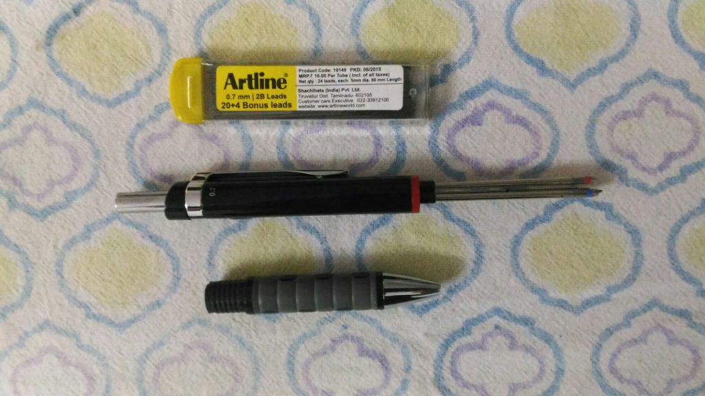 I use regular pencil  leads