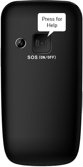 Dedicated SOS button on the back.