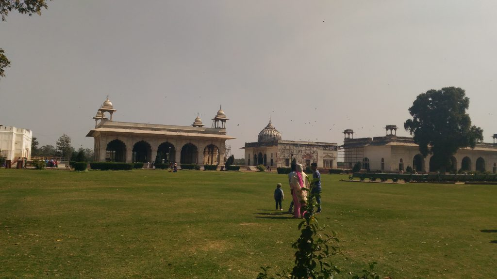 Lawns inside Red Fort