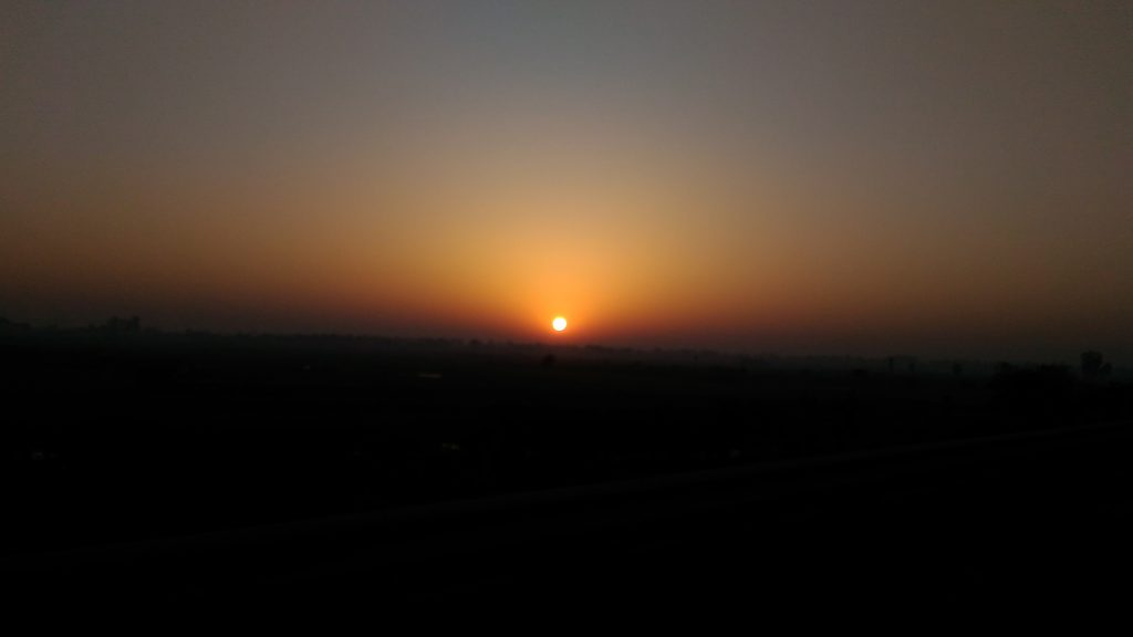 Sunrise on Yamuna Express way