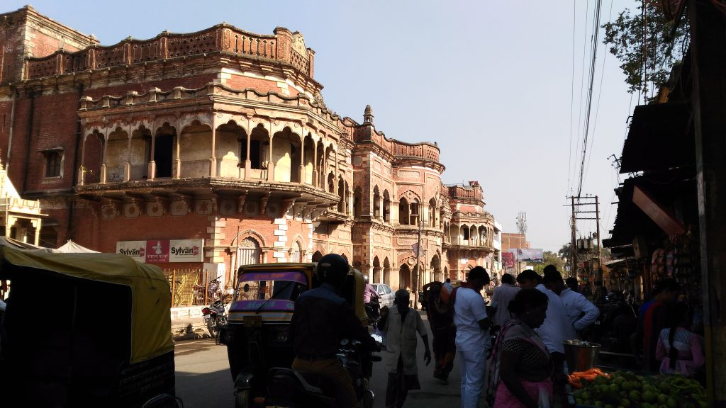 An old building near Sankat Mochan temple