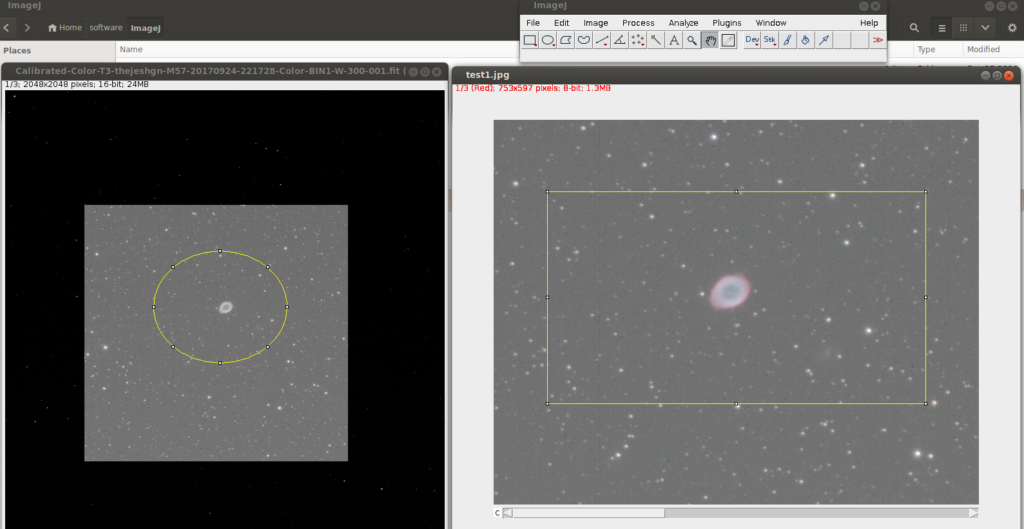 Processing FITS using ImageJ