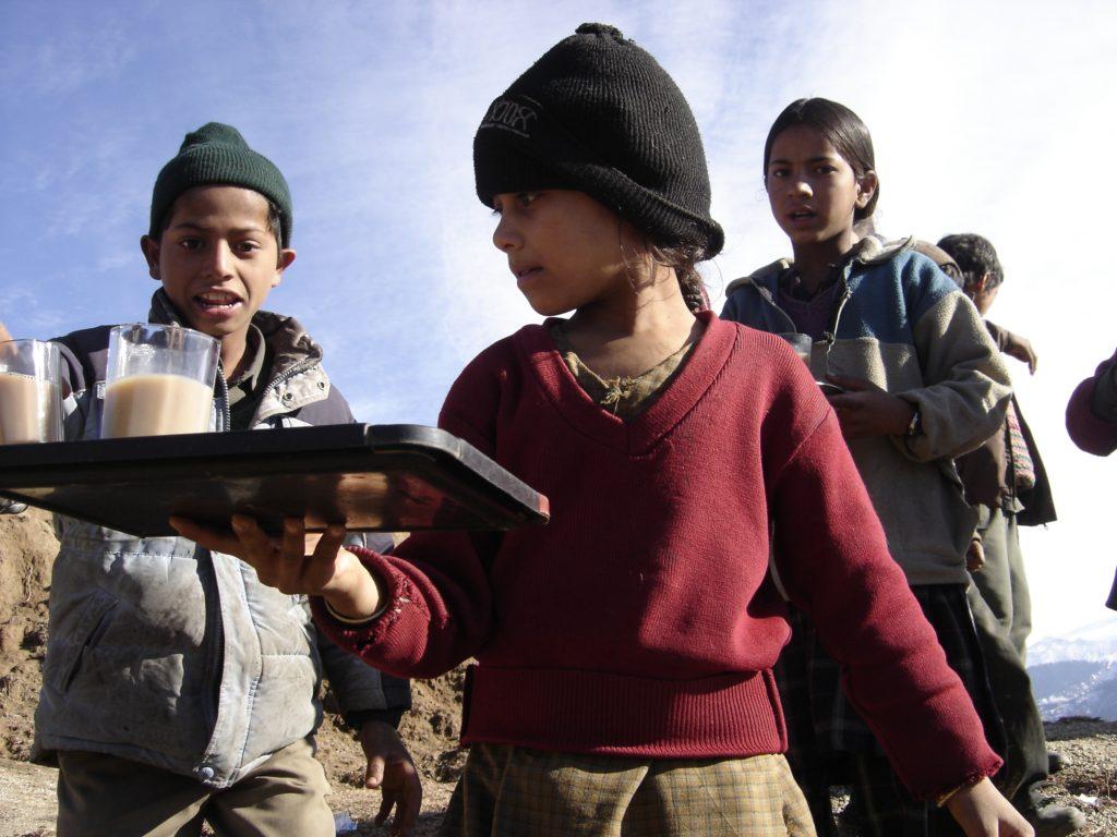 Kid selling chai