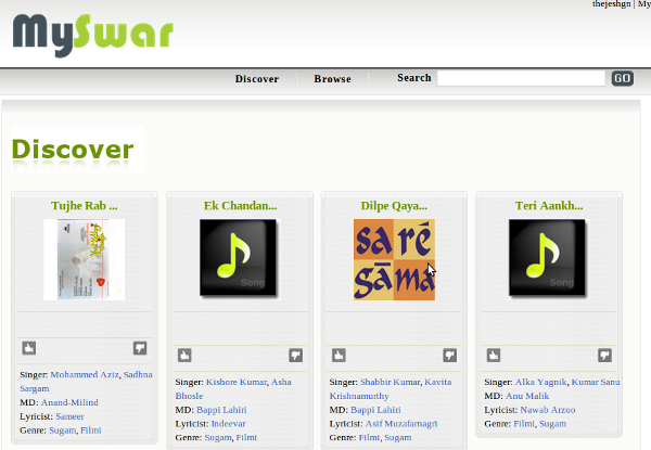 Discover music on MySwar