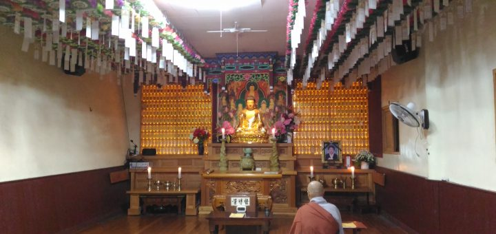 Morning chanting service hall.