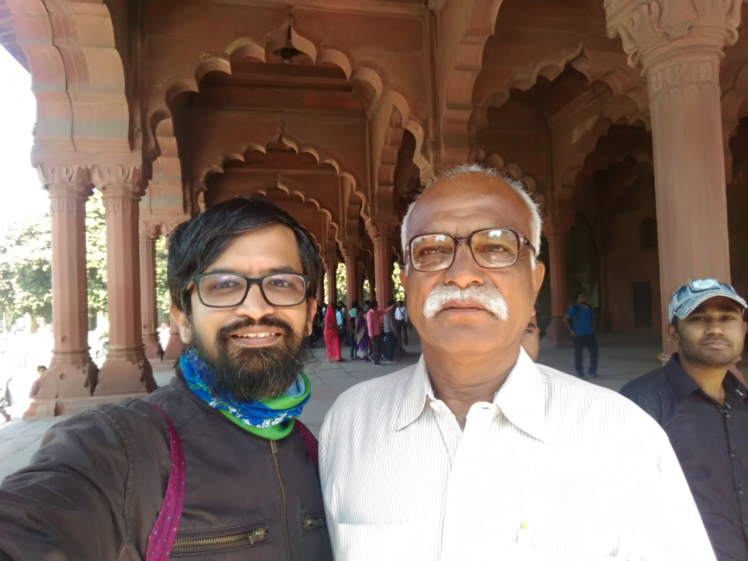 My first selfie with Appa. In Red Fort.