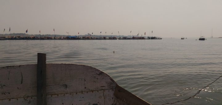 Those boats are lined up at the Sangam location.