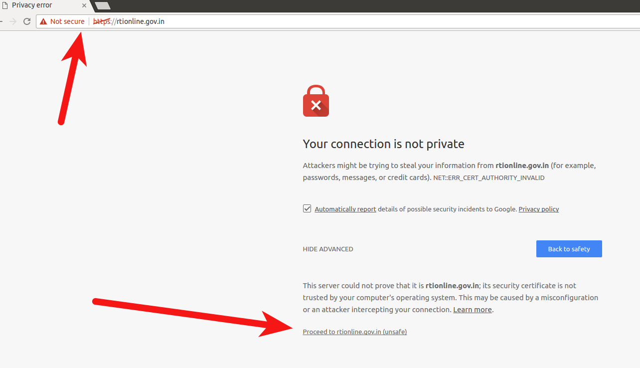 Broken HTTPS. Invalid SSL certificate.