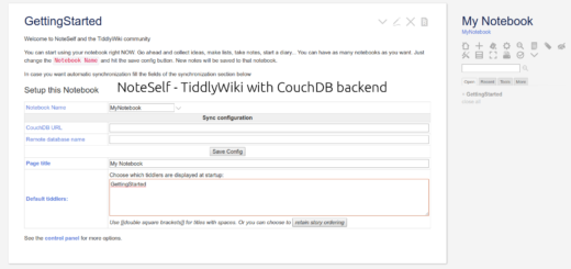 CouchDB settings in NoteSelf.