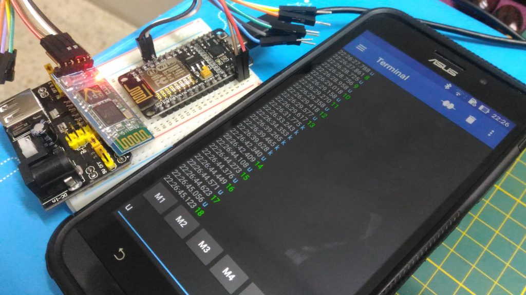 NodeMCU responding back to commands sent over bluetooth SPI