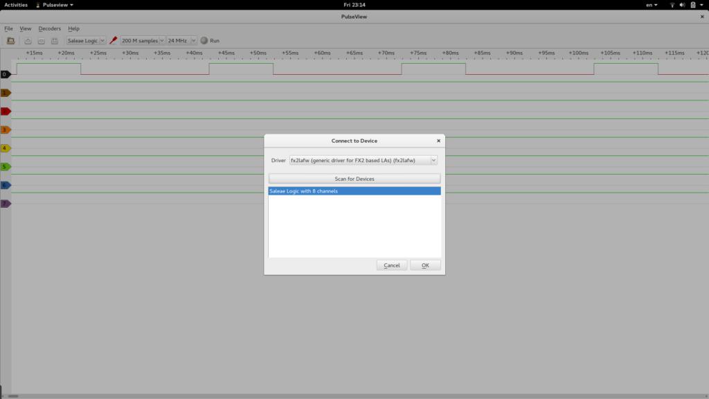 Selecting Logic Analyser Device