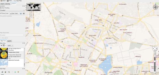 Wikimedia Kannada Maps inside Marble Application