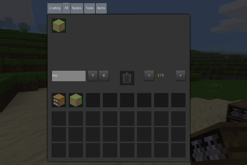 Go to inventory search for our block and add it