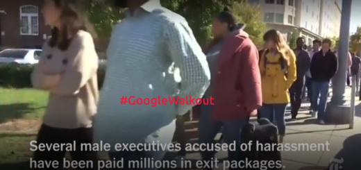 Screenfrab from Google Walkout: Employees Stage Protest Over Handling of Sexual Harassment Video.
