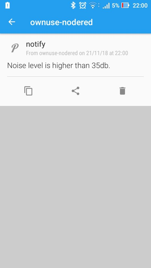 Sound Level Alert