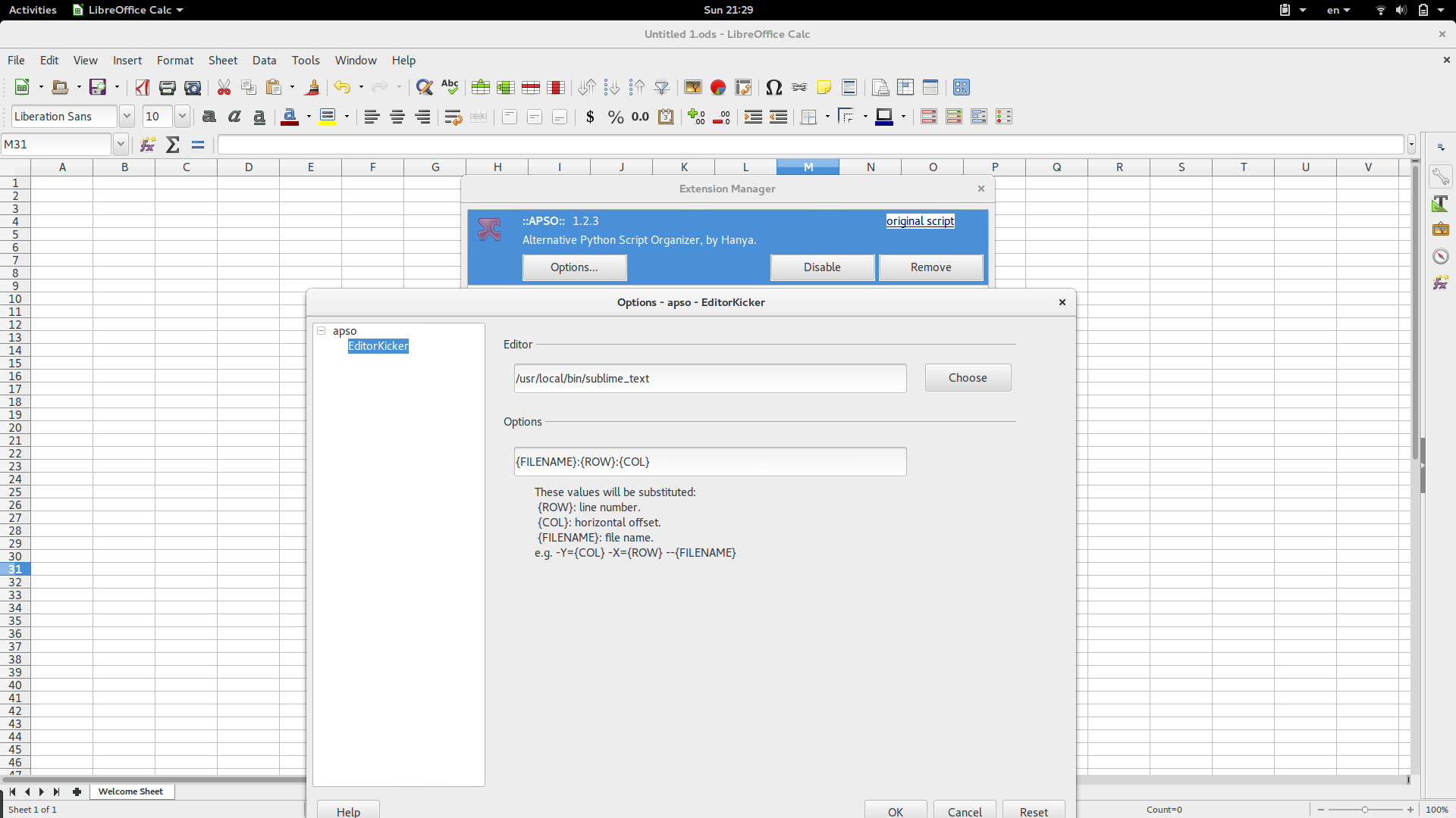 Python in LibreOffice Macros | Thejesh GN